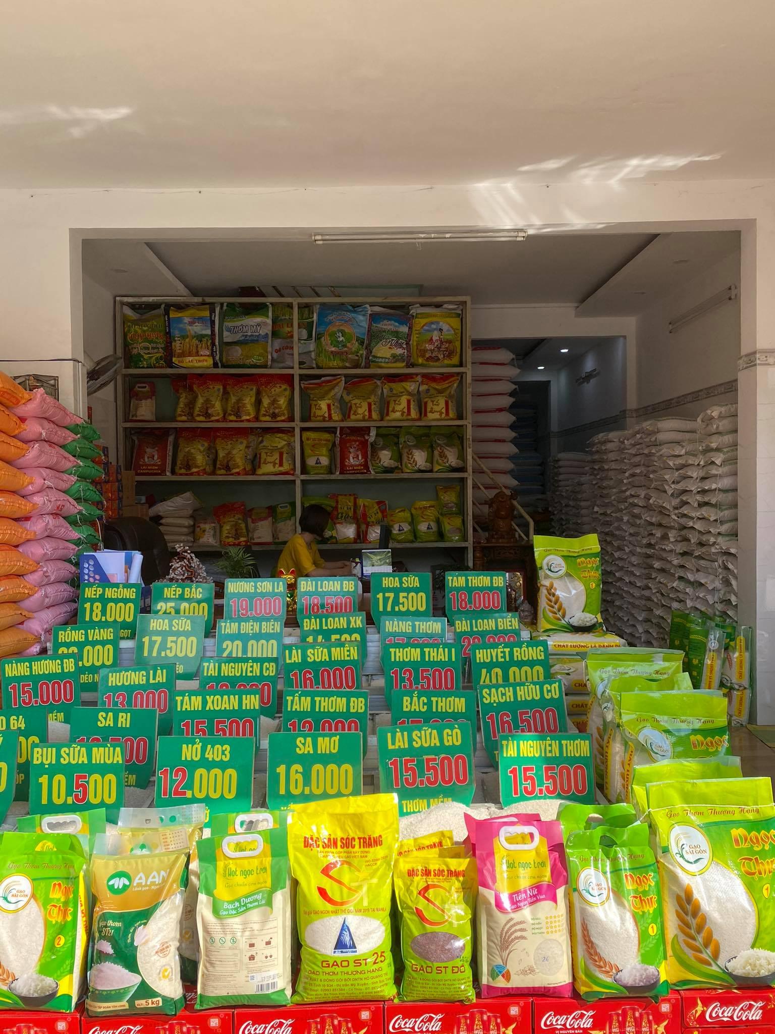 Cách Bày trí cửa hàng bán gạo
